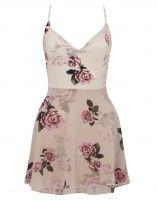 Ariana Grande For Lipsy Rose Print Layered Skater Dress, get this image at prshots.com