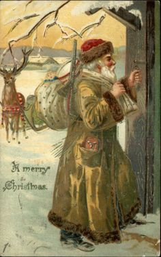 .vintage santa card