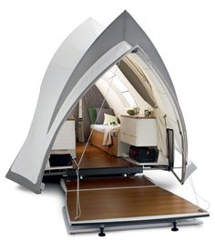 The Opera :: Roughing It Like a King      Camping taken to a whole different level. Design inspired by the Sydney Opera House.