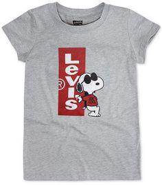 59eaf180 Levi's Toddler Girls Joe Cool Snoopy T-Shirt Snoopy T Shirt, Joe Cool,