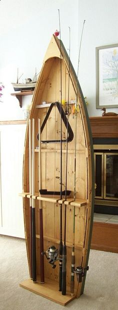 Fishing Rod Display Storage Rack pole holder stand and by spinad1, $205.00