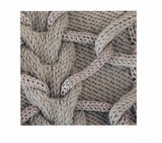 Stitch Inspiration | very interesting weaving through the cables