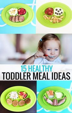 15 Healthy Meal Ideas for your Toddler - These heatlhy meal ideas are perfect for toddlers. No more wondering what to make for breakfast, lunch, or dinner. These meals are sure to be a hit! Healthy Toddler Meals, Toddler Snacks, Healthy Kids, Kids Meals, Toddler Dinners, Baby Meals, Healthy Breakfast For Toddlers, Daycare Meals, Baby Foods
