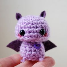Baby Purple Bat - Kawaii Mini Amigurumi