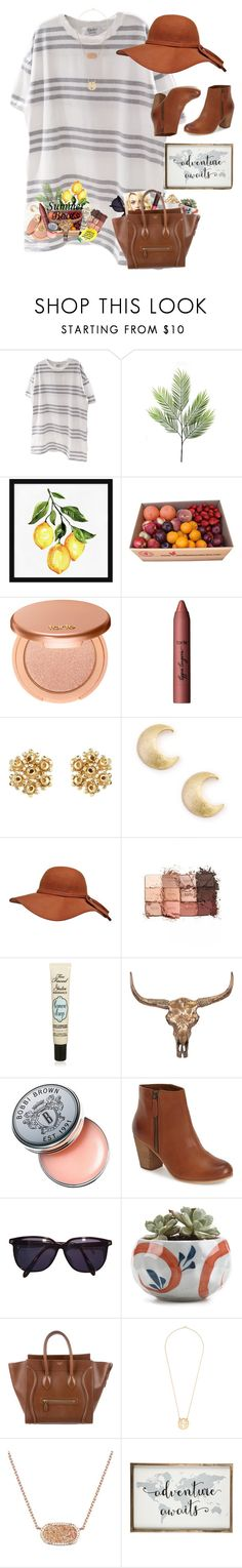 """Summer bootie contest!!"" by livnewell ❤ liked on Polyvore featuring Pottery Barn, tarte, Sole Society, Too Faced Cosmetics, Universal Lighting and Decor, Bobbi Brown Cosmetics, BP., Sonia Rykiel, Burt's Bees and CÉLINE"