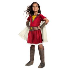 Small Shazam Mary Deluxe Child's Halloween Costume Red - Your little one will love transforming into a superhero in the Shazam Mary Deluxe Child's Halloween Costume. This awesome costume comes with a dress, cape, gauntlets, belt, and boot covers. Dc Costumes, Marvel Costumes, Group Costumes, Cool Costumes, Kids Costumes Girls, Halloween Costumes For Kids, Kids Outfits, Mary Costume, Shazam Movie