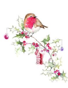Resultado de imagen para watercolor christmas