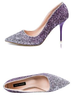 9327209ebfc2 SOHI 1 Pairs Luxurious Gradient Sequin Pumps Heels Shoes Pointed Toe  Shallow High Heels Women Shoes