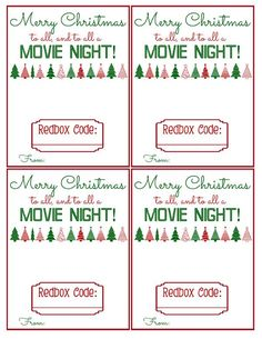 This is the cutest Redbox Gift printable around! It's perfect for your neighbor gifts this year. They will love it!