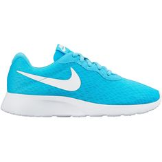 Nike Tanjun Womens Running Shoes (€47) ❤ liked on Polyvore featuring shoes, athletic shoes, lightweight shoes, nike footwear, lace up shoes, synthetic shoes and flexible shoes