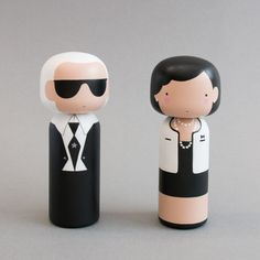 KOKESHI DOLLS of Karl Lagerfeld and Coco Chanel by Sketch Inc. Lucie Kaas