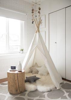 A teepee in playroom with sajewellness nebulizer. Playroom Decor, Baby Room Decor, Nursery Room, Nursery Decor, Bedroom Decor, Tent Bedroom, Bedroom Furniture, Furniture Design, Girl Room