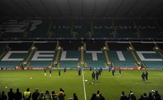 Barcelona players attend a training session at Celtic Park stadium in Glasgow on November 22 2016 ahead of their UEFA Champions League group C...