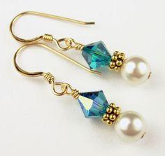 december birthstone earrings -