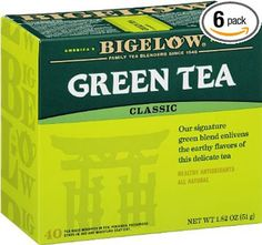 Bigelow Decaffeinated Green Tea Bags, 40 Count Box (Pack of Decaf Green Tea, 240 Tea Bags Total Best Green Tea, Best Tea, Lego Duplo, Decaf Tea, Green Tea Bags, Green Teas, Green Tea Benefits, Natural Remedies, Home Remedies