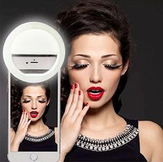 Selfie Ring Light for iPhone 6 plus/6s/6/5s/5/4s/4/Samsung Galaxy S6 Edge/S6/S5/S4/S3, Galaxy Note 5/4/3/2, Blackberry Bold Touch, Sony Xperia, Motorola Droid and Other Smart Phones. UNIVERSAL COMPATIBLE: For iPhone 6s / 6s Plus / 6 /6 Plus / 5s / 5c / 5 / 4s / 4, Samsung Galaxy series like Galaxy S6, S6 Edge Plus, Note 5, LG Phones, Moto, Huawei, HTC, Sony and other phones, iPad & even MacBook works well too. 36 LONG LASTING LED BULBS: Provides supplemental or side lighting for…