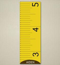 Tape Measure Growth Chart, Kids, Children's room 10 X 30, Nursery, Home Decor, Art Print, Baby, Present