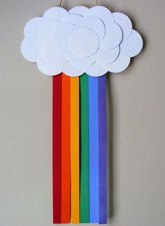 Como fazer arco-íris com papel e feltro para decoração