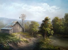 """Country Barn"" by Kevin Hill Check out my YouTube channel: KevinOilPainting For more information about brushes, DVDs, events, and more go to: www.paintwithkevin.com"