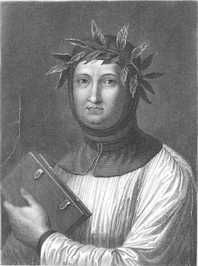 """Francesco Petrarca (Petrarch) - Italian scholar, poet & often called the """"father of humanism"""". He is credited with developing the sonnet."""