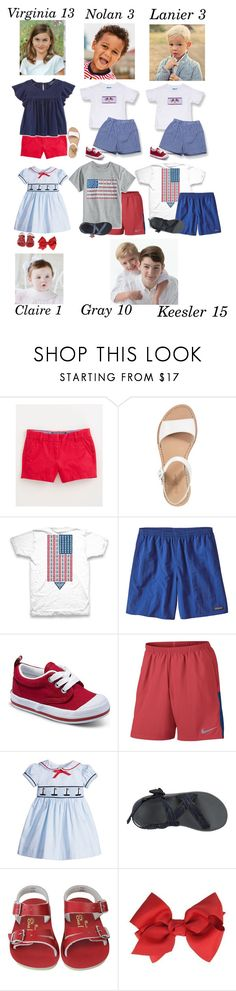 """""""4th of July- The Carters"""" by my-preppy-family ❤ liked on Polyvore featuring Vineyard Vines, Ralph Lauren, Cole Haan, Columbia, Patagonia, Keds, NIKE, Rachel Riley, Chaco and thecarters"""