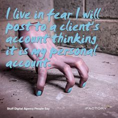 I live in fear I will post to a client's account thinking it is my personal account. Brisbane, Accounting, Things To Think About, Web Design, Ads, Sayings, Digital, Live, People