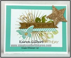 Celebrate a Kinda Eclectic Birthday. Make it sparkle with Champagne Glimmer Paper www.simplysaidwithkaren.com