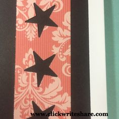 a project made at #cmminiconvention. I used the New Be Bold and Flourish #fast2fab pages and paper pack. I also used the new Stars border maker and the little stars that it makes. I also used the old CM scallop border maker cartridge.