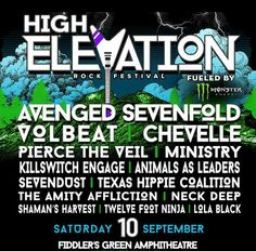 Brand new rock festival called High Elevation Festival takes place in  Denver this September!