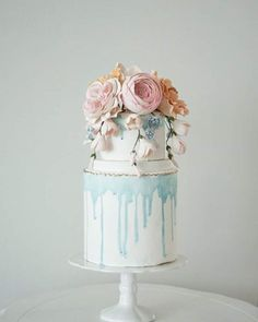 Blue Drizzle Cake