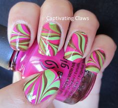 Captivating Claws: A Weekend Water Marble