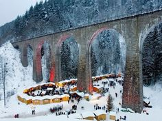 Why we love it: The snowy Black Forest is picturesque enough come wintertime, but this market in its midst (and at the base of the 130-foot high viaduct) manages to be even more Instagram-worthy. Here, over 40 stalls proffer handmade Christmas wares, while even more can be found nearby at the Hofgut Sternen Inn, where the German poet Johann Wolfgang von Goethe once stayed. When: November 26 to December 18