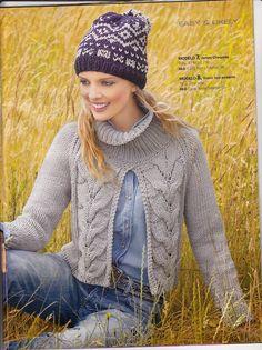View album on Yandex. Knit Crochet, Crochet Hats, Knitting Needles, Free Pattern, Knitwear, Crochet Patterns, Men Sweater, Winter Jackets, Pullover
