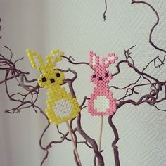 Easter ornaments hama beads by h3idi76