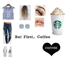 """""""But First...Coffee☕️"""" by aubreylb on Polyvore featuring WithChic, Cello, adidas and Brika"""