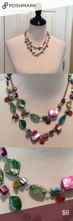 Adjustable multi colored beads necklace Adjustable multi colored beads necklace, see pictures Jewelry Necklaces