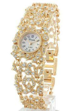 Yellow Gold and Diamond Watch   Fashion Jewellery Watches   Rosamaria G Frangini