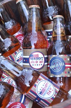 4th of July BBQ Party Ideas and Desserts table - LOVE the Americana, vintage feel of this party! - BirdsParty.com