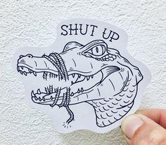 Don't talk too much! Badass Tattoos, Up Tattoos, Time Tattoos, Black Tattoos, Tattoo Drawings, Body Art Tattoos, Small Tattoos, Sleeve Tattoos, Tatoos
