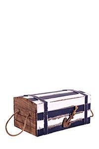 WOODEN COASTAL TREASURE CHEST Treasure Chest, Magazine Rack, Coastal, Storage, Furniture, Design, Google Search, Home Decor, Purse Storage