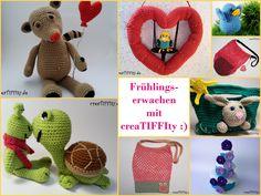 🌷 Häkelprojekte für den Frühling 🐣  Ein paar Inspirationen für euch aus meinem Shöppchen Häkelt euch glücklich(er): www.creaTIFFIty.de/shop  #häkelnmachtglücklich #häkeln #häkelanleitung ##crochetlove #crochet #creaTIFFIty