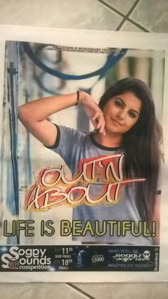 Tiara girl  Dipti Budhrani  Miss India Worldwide  St Maarten 2015 on the cover of Out n About newspaper. Atta  girl!