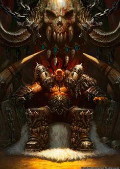 wei wang throne orc, Garrosh Hellscream, leader of the #Horde.   #worldofwarcraft