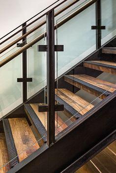 Metal Stair Treads Reclaimed Saw Trace Oak Stair Treads Metal Stair Treads And R. - Metal Stair Treads Reclaimed Saw Trace Oak Stair Treads Metal Stair Treads And Risers - Tile Stairs, Oak Stairs, Glass Stairs, Metal Stairs, Floating Stairs, House Stairs, Glass Railing, Stairs Edge, Garage Stairs