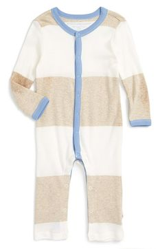 Burt's Bees Baby Stripe Organic Cotton Romper (Baby Boys) available at #Nordstrom
