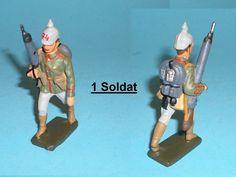 2639 – Lineol Preus. Soldat im Marsch mit LMG Sehr Gut   eBay