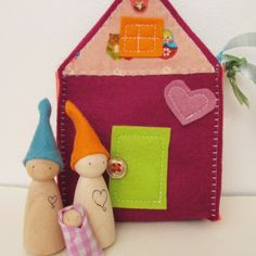 Felt playhouse for the felt playhouse.