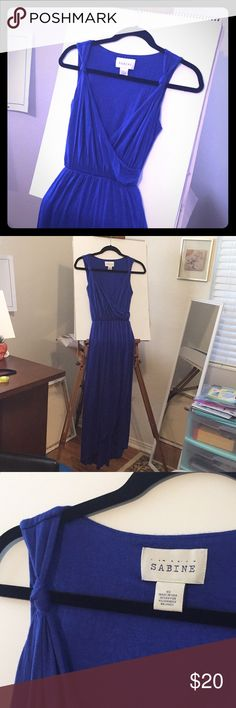 """Sabine 🐬 wrap dress Sabine dress, purchased in the good ol' days of Piperlime and hardly worn! Excellent condition, soft and stretchy. Perfect as a coverup or layered for a chic Grecian-inspired look. Cobalt blue. Length is 52"""" measured from shoulder to longest point in the back. Sabine Dresses High Low"""