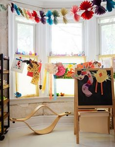 kids' playroom, artsy and colorful.