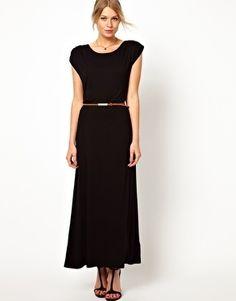 belted t-shirt maxi dress